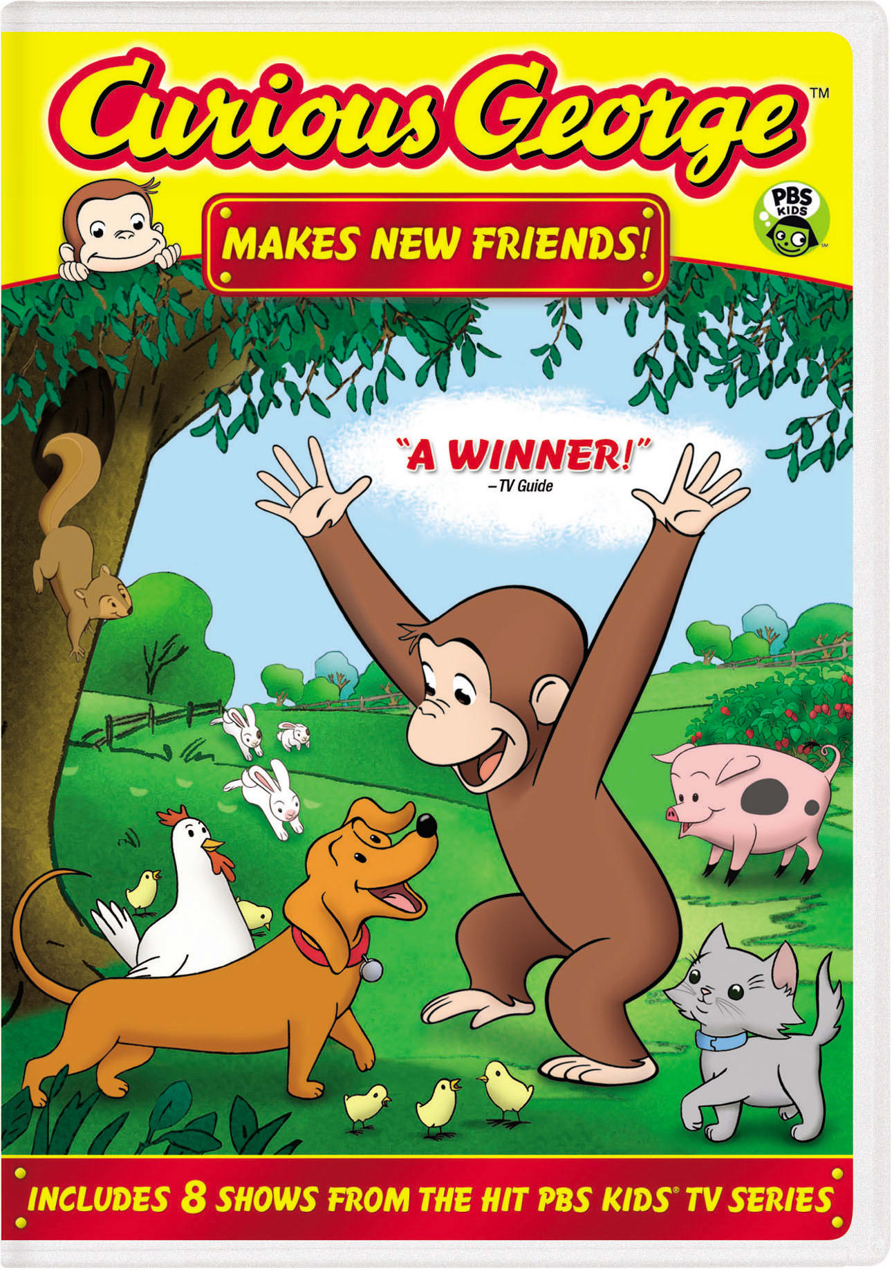 Curious George: Makes New Friends! [DVD]