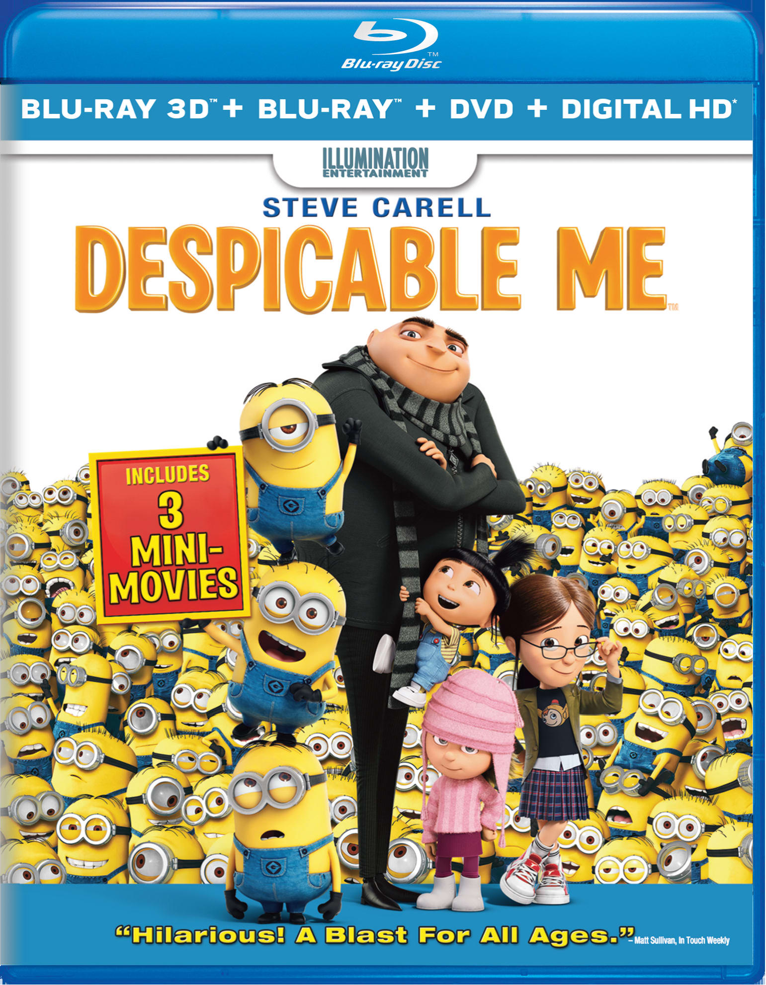 Despicable Me 3D (DVD + Digital) [Blu-ray]
