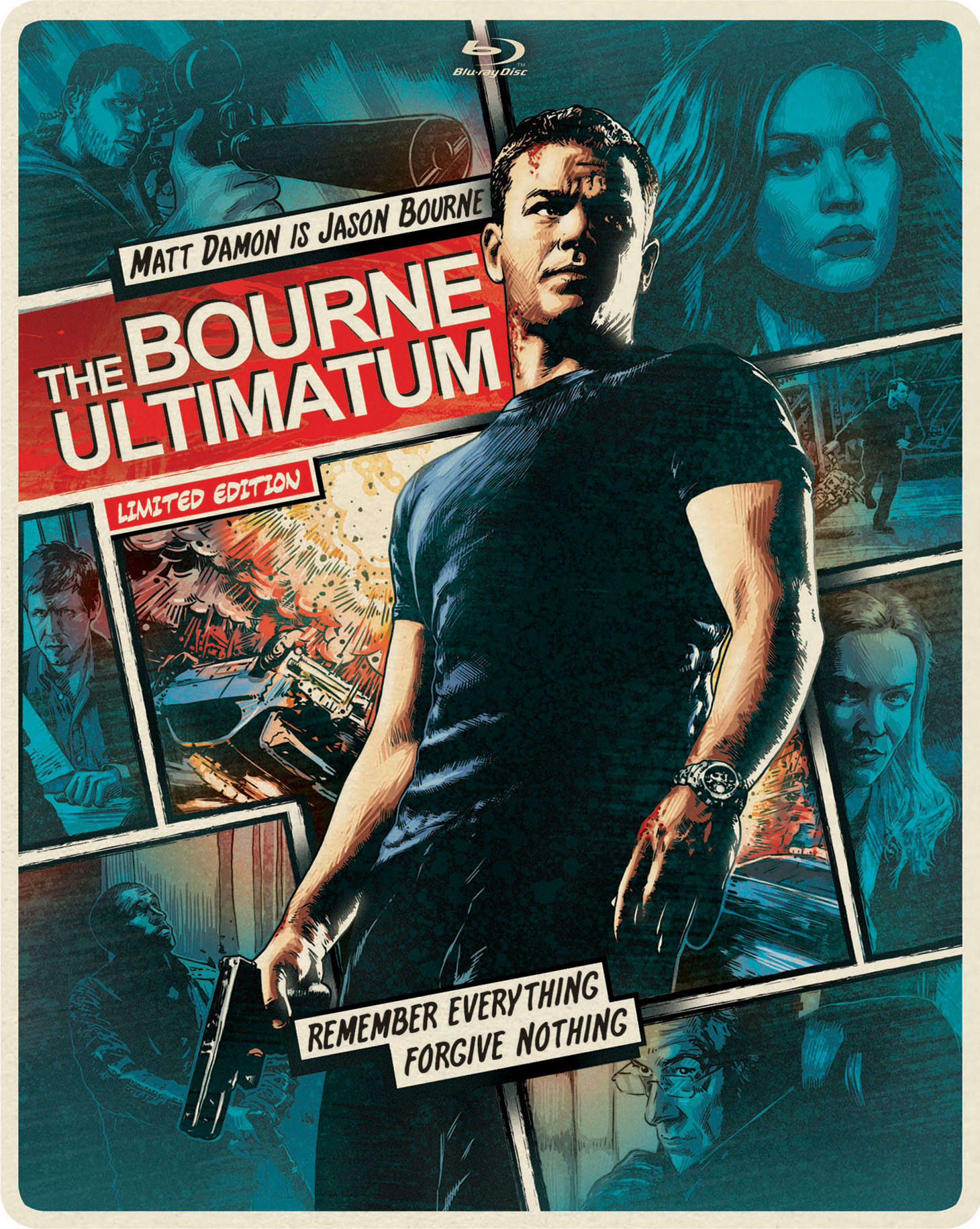 The Bourne Ultimatum (Limited Edition Comic Art Steelbook) [Blu-ray]