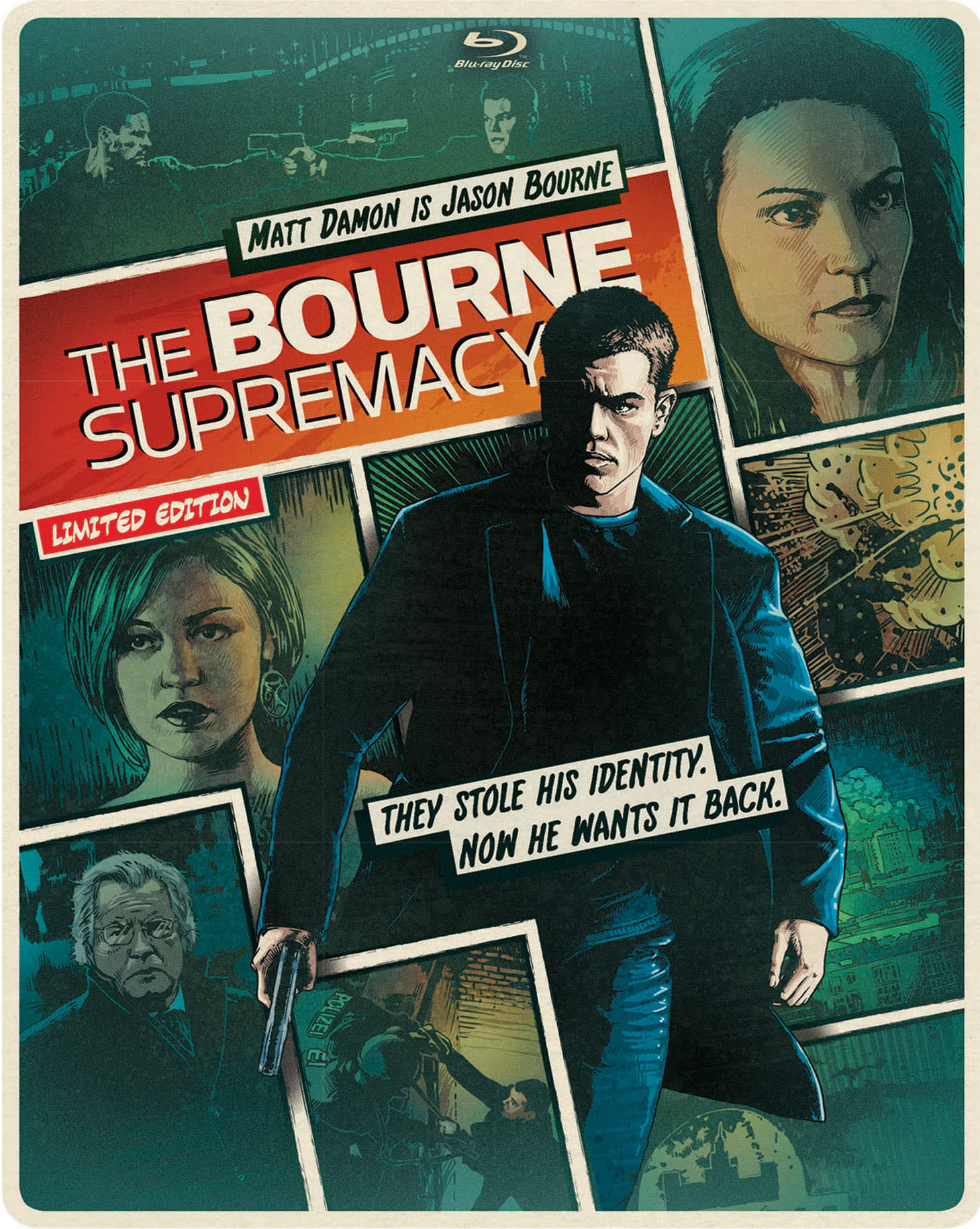 The Bourne Supremacy (Limited Edition Comic Art Steelbook) [Blu-ray]