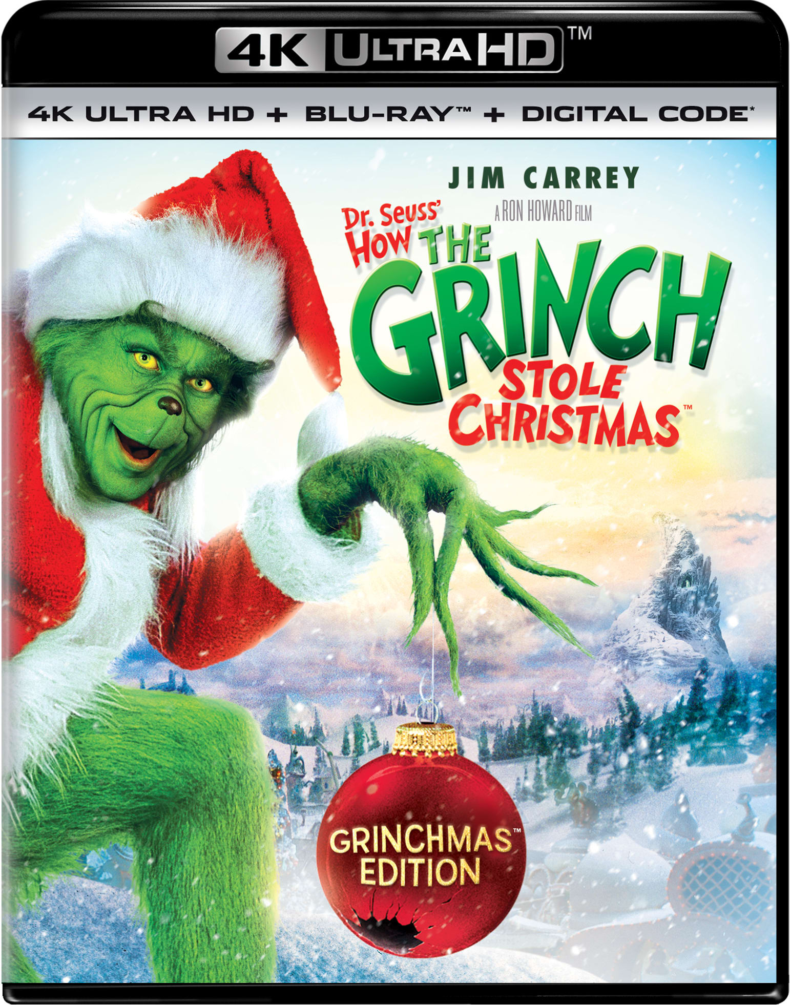 Dr. Seuss' How The Grinch Stole Christmas (Grinchmas Edition - 4K Ultra HD + Digital) [UHD]