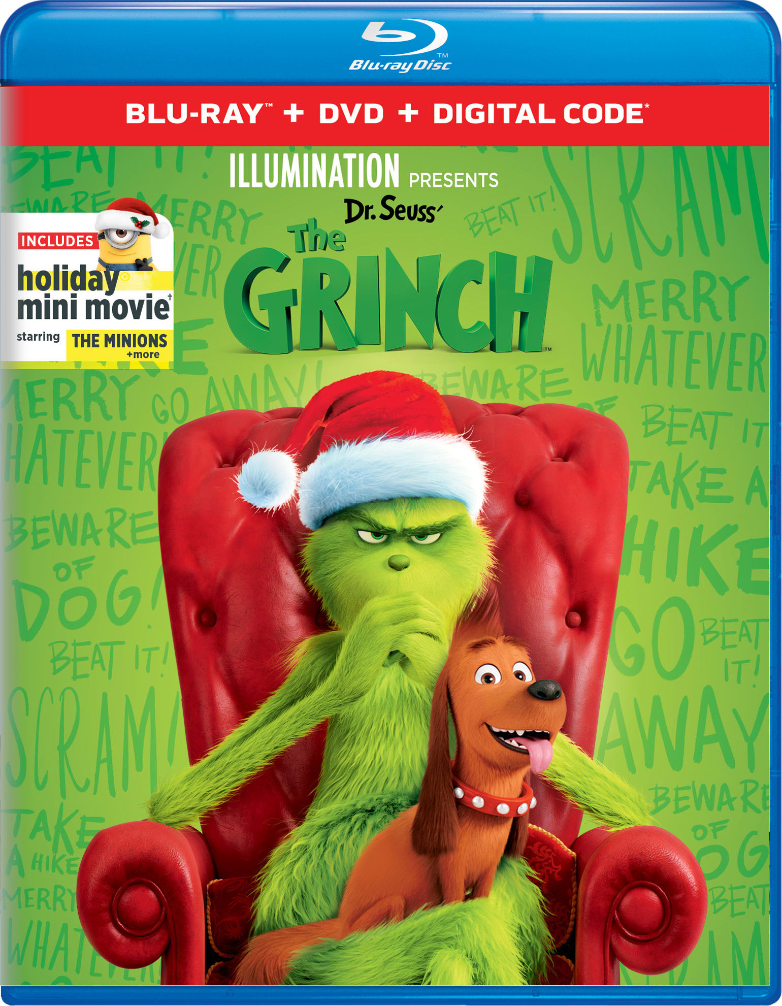 Illumination Presents: Dr. Seuss' The Grinch (DVD + Digital) [Blu-ray]