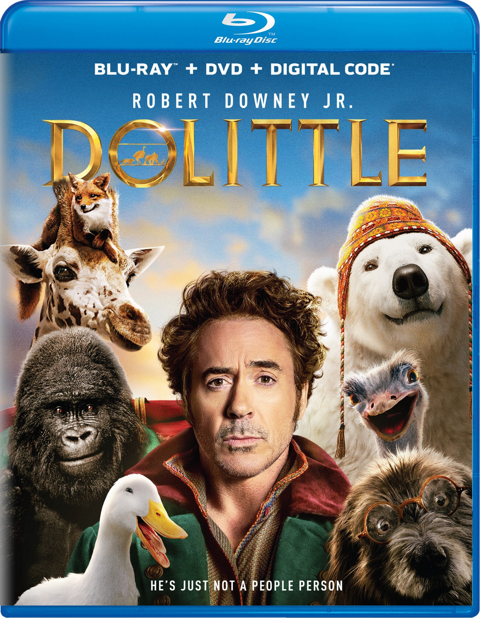 Dolittle (DVD + Digital) [Blu-ray]