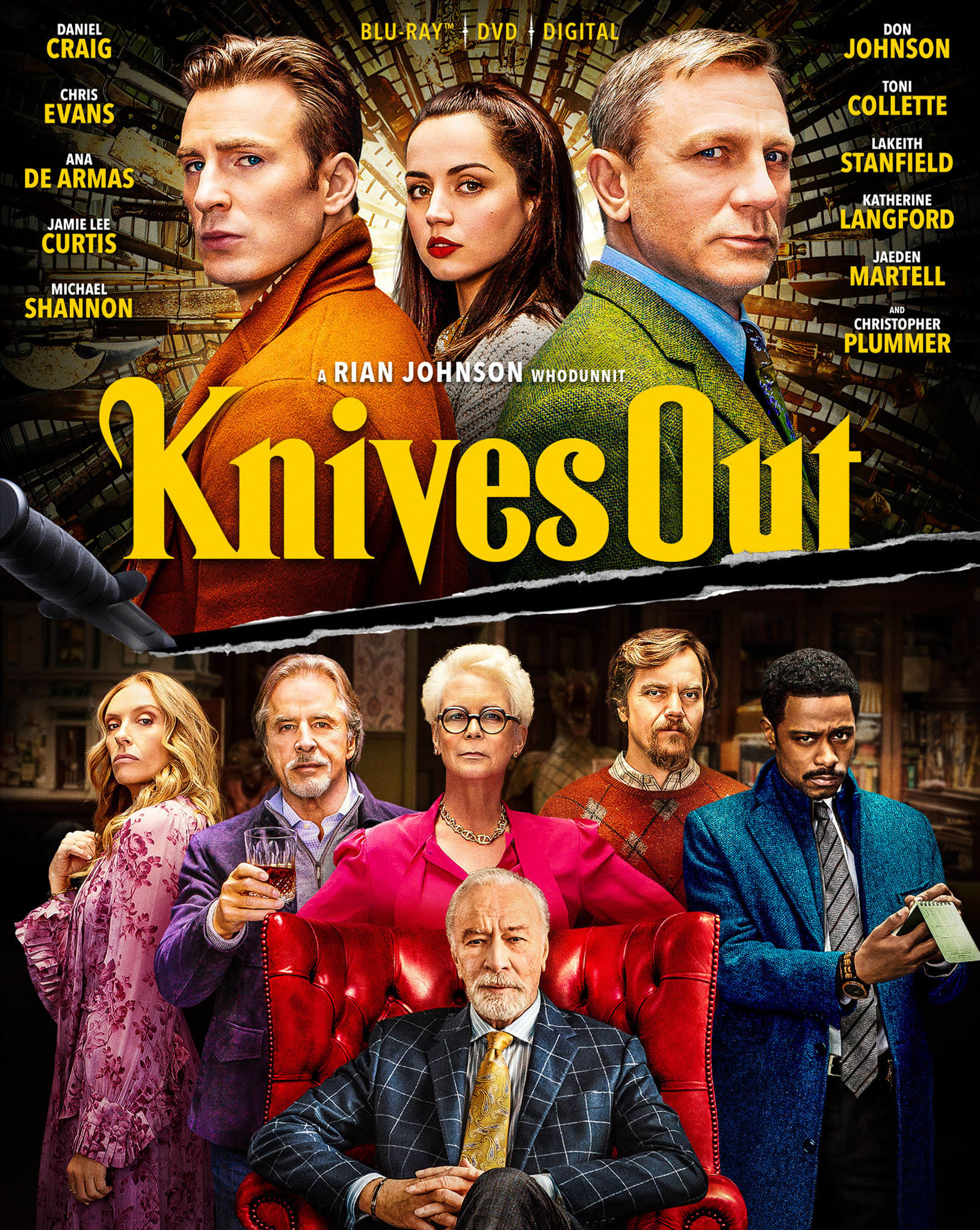Knives Out (DVD + Digital) [Blu-ray]