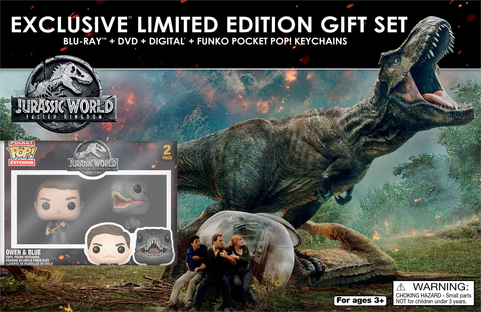 Jurassic World - Fallen Kingdom (Exclusive Limited Edition Gift Set) [Blu-ray]
