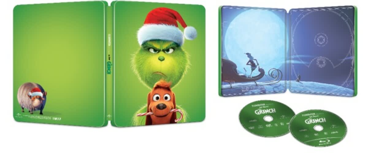 Illumination Presents: Dr. Seuss' the Grinch (Steelbook + Digital) [Blu-ray]