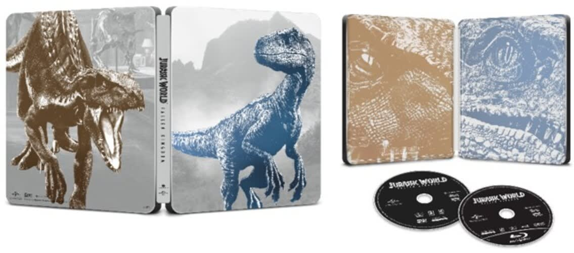 Jurassic World - Fallen Kingdom (Limited Edition Steelbook + DVD + Digital) [Blu-ray]