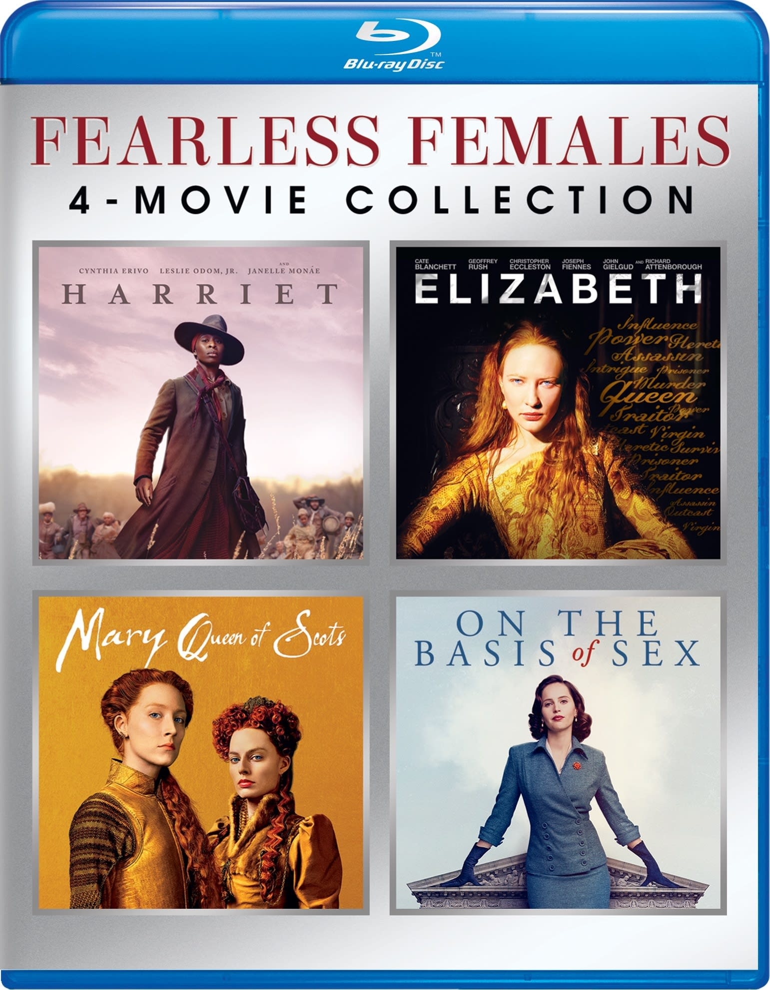 Fearless Females 4-Movie Collection (Harriet/Elizabeth/Mary Q [Blu-ray]