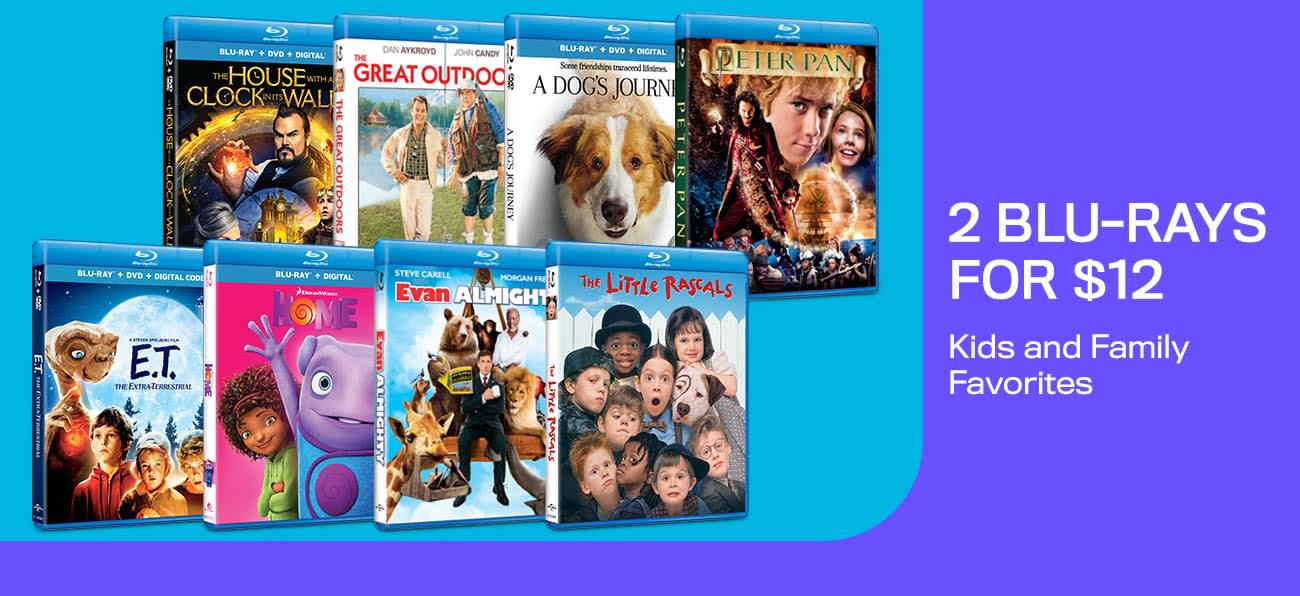 1300x596 2 Blu-rays For $12 - Kids and Family Favorites