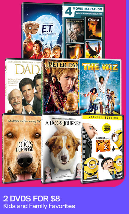 423x720 2 DVDs For $8 - Kids and Family Favorites