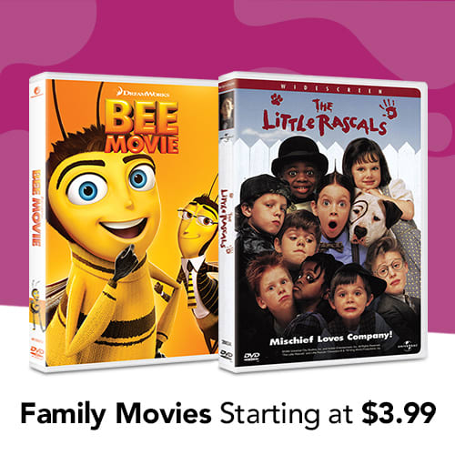 Family Movies Starting at $3.99