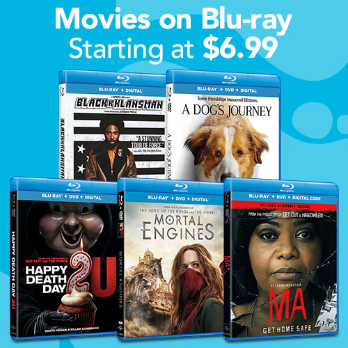 Movies on Blu-ray Starting at $6.99