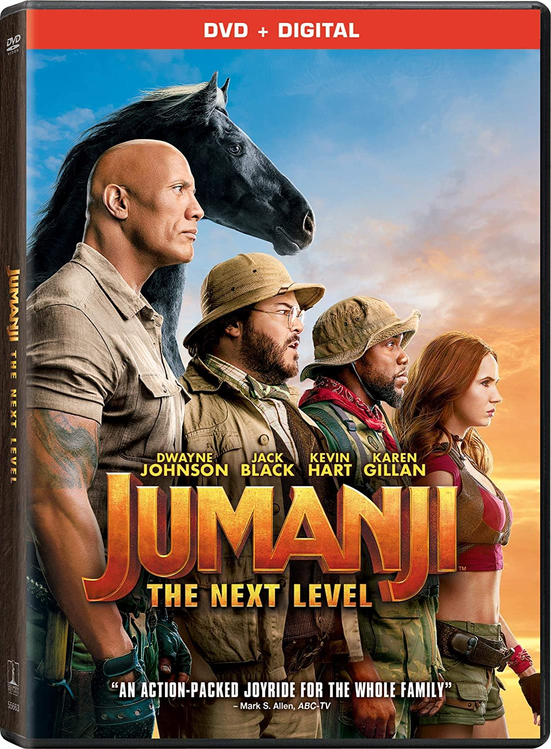 Jumanji: The Next Level  (DVD + Digital) [DVD]