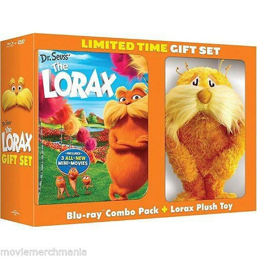 Dr. Seuss' The Lorax (Limited Edition with Plush Toy) (DVD + Digital) [Blu-ray]