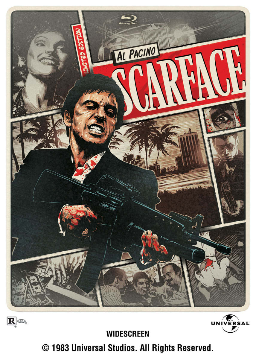 Scarface (1983) (Limited Edition Steelbook + Digital) [Blu-ray]