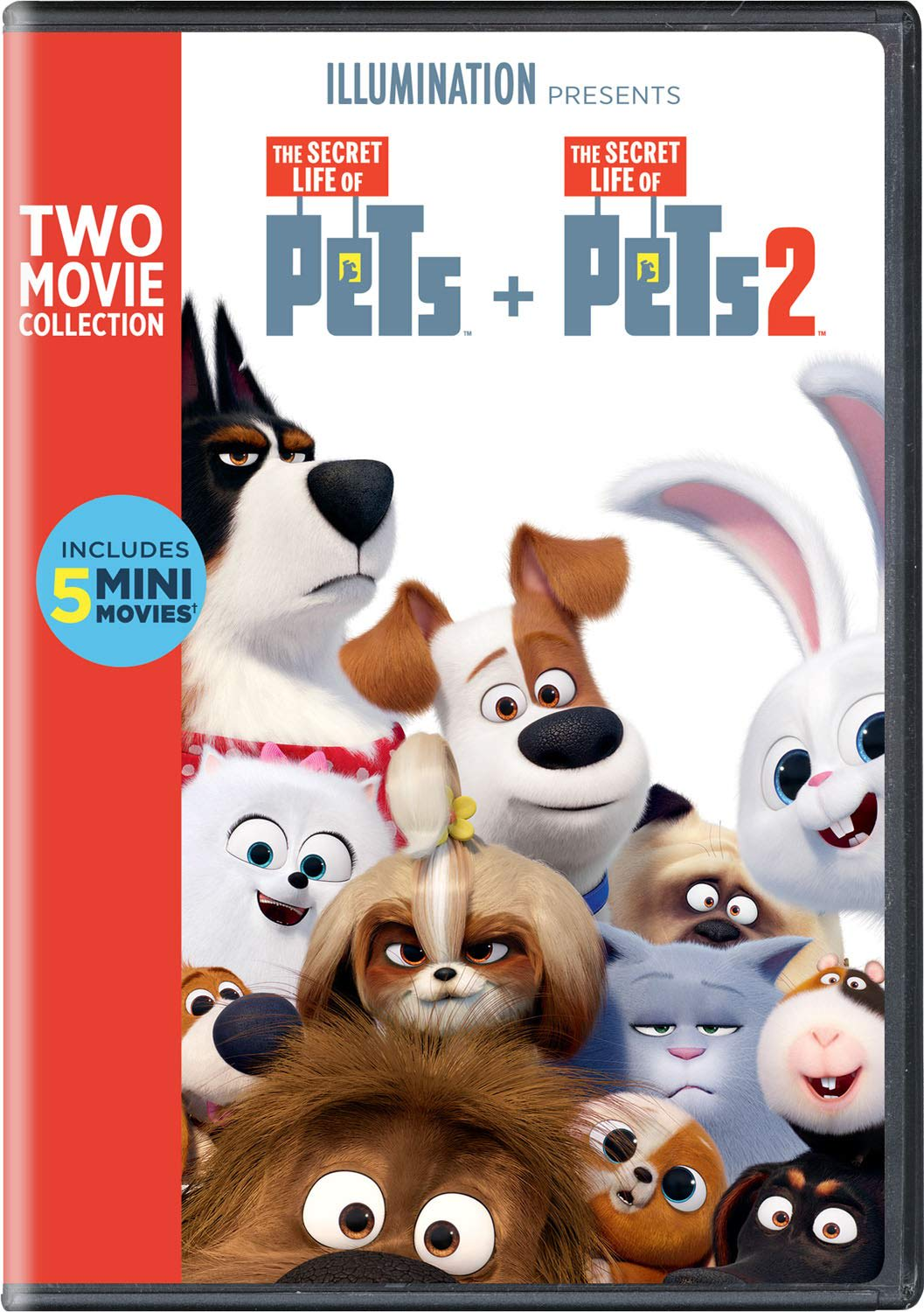 The Secret Life of Pets 1 & 2 [DVD]