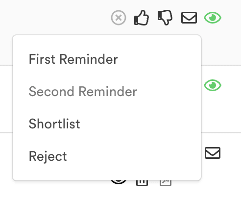 Manual email options
