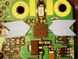 PCB with Amplifier Failed from EOS