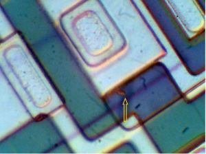1700x magnification, the exit point can be seen