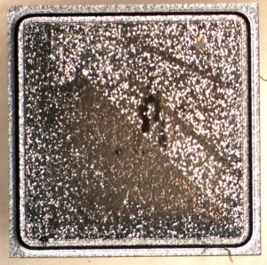 Backside of sample 2