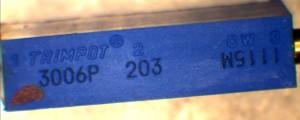 Bourns Trimpot 3006P 203 Potentiometer