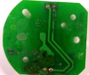 Connectors on PCB were corroded