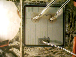 Emitter and Gate labeled
