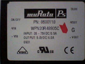 MuRata Ps DC-DC Converters (Pn 8600118)