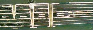 PCB cross section of pyrolyzed layers