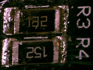 RG 4231 Brown tincture indicates flux