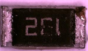 SEM-EDS Spectra, indicating Sulfur