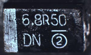 Sample 1 TR3D685K050C0500 tantalum capacitor