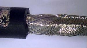 Stranded wire with high resistance