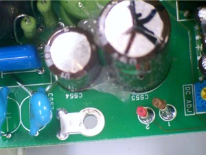 Two Capacitors on Mother Board