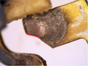 Cracked solder joint