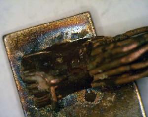 Nickel corrosion on copper pad