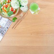 Tischplatte Massivholz Eiche Rustikal mit Durchgehenden Lamellen (45mm Dauben)