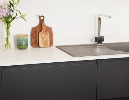Arctic acrylic solid surface worktop