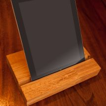 Solid Wood iPad Holder Oak