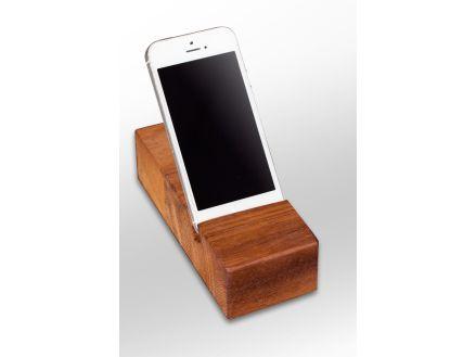 Solid Wood Iroko iPhone Stand