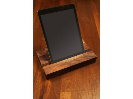 Solid Walnut iPad Stand Europe