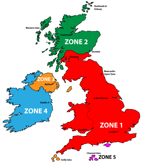 The Chippy Shop - Delivery Zones