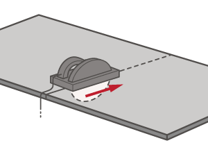Ensure measurements are marked clearly and follow when cutting to achieve a smooth top edge for a discreet join.