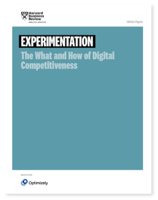 HBR Experimentation The what and how of digital competitiveness