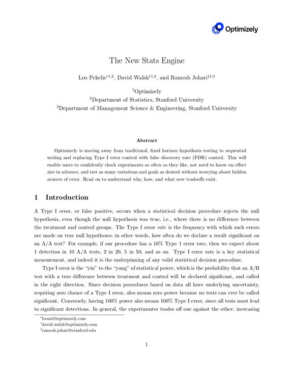 The New Stats Engine Whitepaper