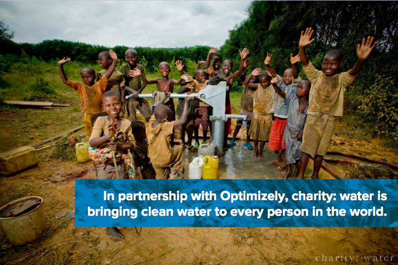 Charity Water & Optimizely