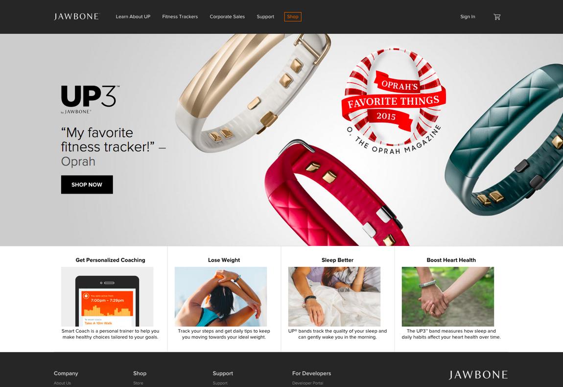 Jawbone website
