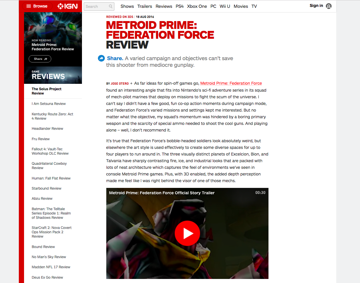 IGN Experimentation