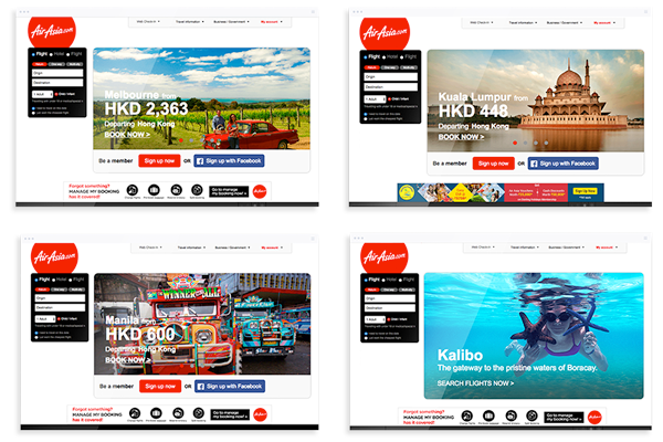personalization screens airasia p3