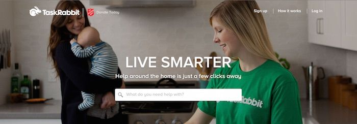 TaskRabbit Hero Image Example